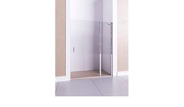 Modelo CIRCE - Mampara de ducha frontal de 1 hoja fija y 1 puerta abatible - Cristal 6 mm con ANTICAL INCLUIDO: Amazon.es: Bricolaje y herramientas