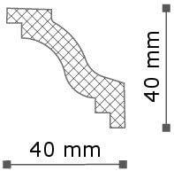 Moulure pack /économique 50 m/ètre Corniche NMC WALLSTYL/® - WT6