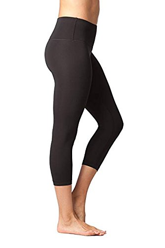 Yogalicious 22in Inseam High Waist Capri - Women's Black, M by Yogalicious (Image #2)