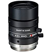 Computar M1224-MPW2 2/3 12mm F2.4 Manual Iris C-Mount Lens, 5-Megapixel, Ultra Low Distortion