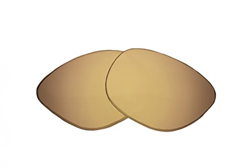 SFx Replacement Sunglass Lenses fits Anon Paparazzi 63mm Wide (Ultimate Gold Mirror Brown Pair-Polarized)