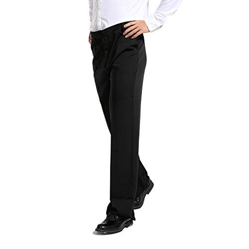 - Hao Run Men Ballroom Latin Salsa Modern Dance Pants Smooth Competition Practice Trousers Black