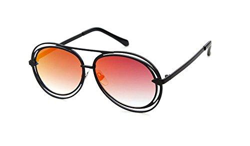 GCR Sunglasses Polarized light Shade glasses Lunettes de soleil rétro structure métallique creuse , c4
