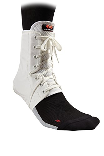 McDavid Level 3 Ankle Brace/Lace-Up with Inserts, Large, White