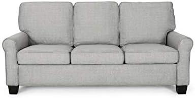 Christopher Knight Home Bridget 3-Seater Sofa, Traditional, Grey, Gray Dark Brown