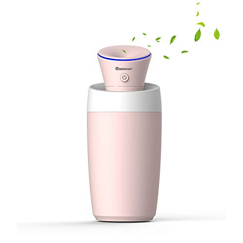 Renogy Mini Humidifier Cool Mist USB Personal Small Humidifier, Cute Desk Vaporizer Humidifier, Ultrasonic Humidifiers for Bedroom Office Car Desktop Kids Baby Nursery Travel Hotel, Portable, No Noise