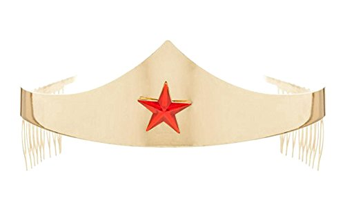 DC Comics Wonder Woman Golden Tiara with Red Gem Star -