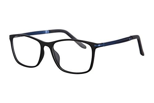 SHINU TR90 Progressive Multifocus Reading Glasses Multiple Focus Eyewear-SH031 (black and blue, up+0.00, ()