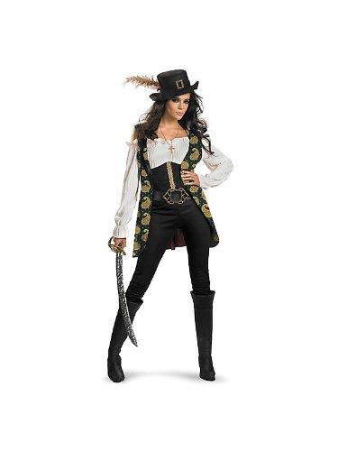 Angelica Deluxe Adult Costume - Medium - Pirates Of The Caribbean Angelica Deluxe Costumes