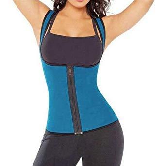 7c622d8d18d Buy Women Top Quality Body Shaper Wear Solid Color Waist Training Trainer  Under Bust Corset Cincher Zipper Women Shapers Hot Color Blue Size XXL  Online at ...