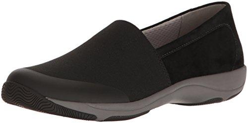 Dansko Women's Harriet Loafer Flat, Black Stretch/Suede, 8.5-9 (Dancos Shoes)