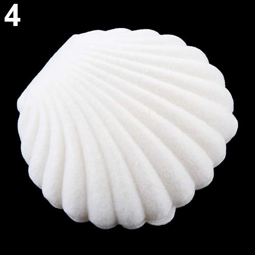 lightclub Cute Sea Shell Earring Ring Necklace Display Storage Organizer Gift Jewelry Box for Proposal for Wedding Ceremony for Jewelry Gift White