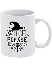 Heks Please Halloween Koffie Mok Heks Hoed Spinnen Web Keramische Mok Grappige Nieuwigheid Thee Cup 11 oz Verjaardagscadeau voor Vrouwen Mannen