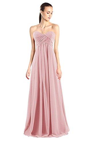 Tngan Bridesmaid Chiffon Prom Dresses Long Evening Gowns M Blush