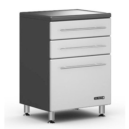 Ulti-MATE Storage 3-Drawer Base Cabinet in Starfire Pearl - GA-04SW -Strong 3/4