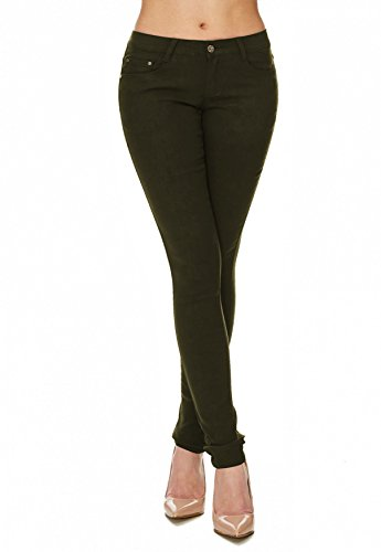 Tubo D1701 Treggings Hosen Verde Scuro Arizonashopping Tubi Jeans Hipsters Skinny Donna BSWwRq1