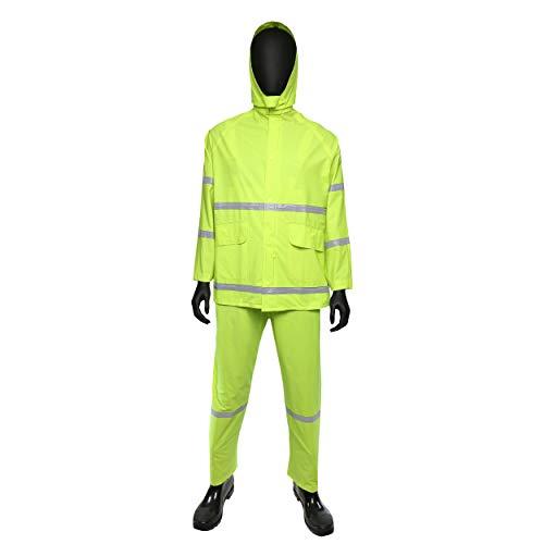 West Chester 4031 X2XL 35 mil PVC Rain Suit Class 1, 3XL, Lime