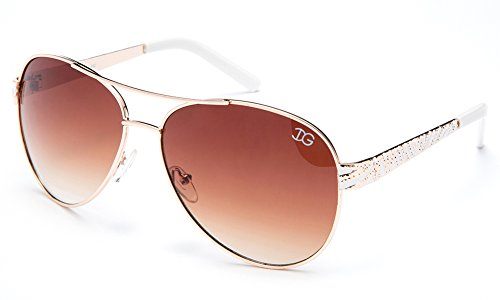 Newbee Fashion - Womens Aviator Temple Design - Aviator Cute Sunglasses