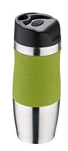 Bergner Thermobecher 400 ml grün Edelstahl mit Silikonhülle