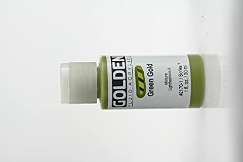 Golden Fluid Acrylic Paint 1 Ounce-Green Gold (Acrylic Golden Paint)