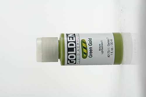 Golden Fluid Acrylic Paint 1 Ounce-Green Gold -