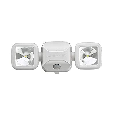 Mr. Beams MB3000 High Performance Wireless Battery Powered Motion Sensing Led Dual Head Security Spotlight