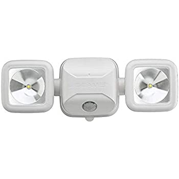 Mr. Beams MB3000 High Performance Wireless Battery Powered Motion Sensing Led Dual Head Security Spotlight, 500 Lumens, White