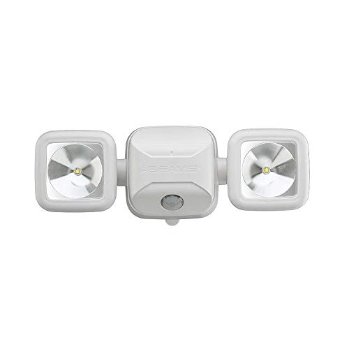 - Mr. Beams MB3000 High Performance Wireless Battery Powered Motion Sensing LED Dual Head Security Spotlight, 500 Lumens, White, 1-Pack