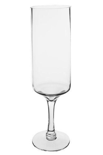 """Long Stem Glass Candle Holders with Height 16"""", Opening D..."""