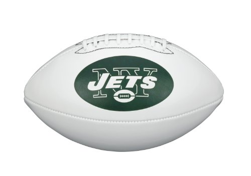 Nfl Team Logo Football - NFL Team Logo Autograph Football New York Jets