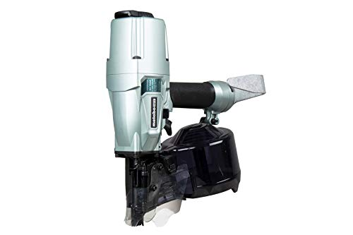 Metabo HPT NV75A5 Pneumatic 3″ Siding/Light Framing (Sheathing) Coil Nailer, Drives Wire & Plastic Collated Nails, 360° Adjustable Exhaust, Lightweight & Compact, No-Mar Nose Cap Included