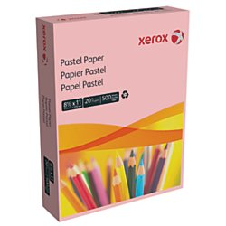"""Xerox Multipurpose Colored Paper, 8 1/2"""" x 11"""", 20 Lb., Pink, Ream Of 500 Sheets"""