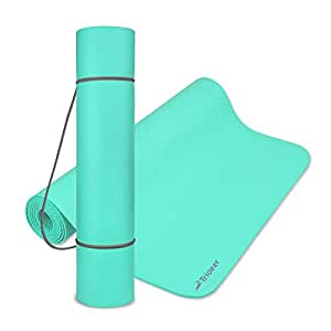 "(78"" x 24"" x 4mm, Mint Green) - Trideer Non Slip Yoga Mat, High Density Anti-Tear Exercise Mat for Home & Gym, Eco Friendly Pilates Mat, 4mm Thinner Workout Mat with Carrying Strap for Fitness and Easy Travel"