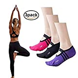 LetsRun Yoga Socks, Non Slip Skid Barre Pilates Ballet Socks for Women 3 Pairs Cotton Socks, YS-1 Review