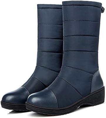YSFU botas Botines mujer Botas De Nieve De Invierno para Mujer Cálidas Y Gruesas Botas Impermeables con Botas Antideslizantes para Mujer