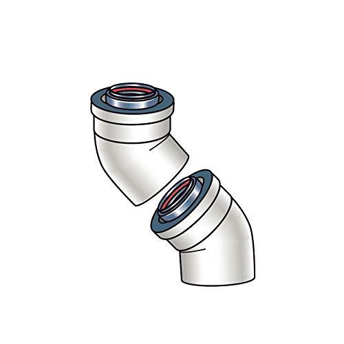 Rinnai 224050 45 Degree Plastic Vent Pipe Elbow - Set of 2, N/A
