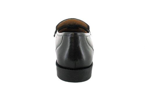 Business Class - Herren-Slipper - Schwarze Lederschuhe Mit Breiter Passform Für Männer - Schuhgrößen: EU 40-46