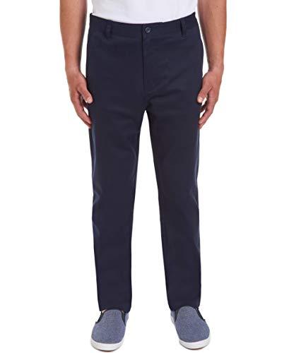(Nautica Men's Young Uniform Flat Front Stretch Twill Pant, Navy, 28W X 30L)