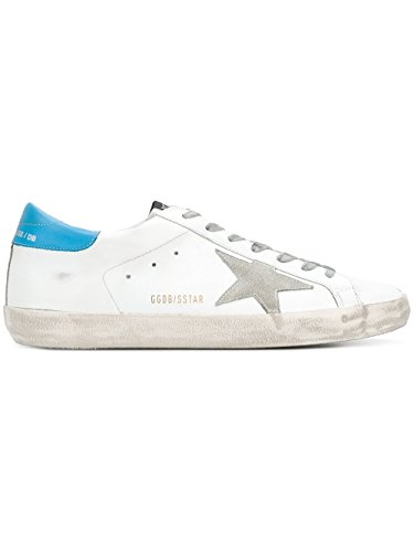Golden Goose Homme G32MS590E84 Blanc Cuir Baskets