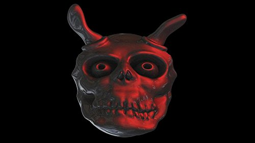 LAMINATED 42x24 inches POSTER: Devil Ghost Face Weird Satan Daemon Hell Costume Halloween Horn Red Creepy Evil Aggressive Hot Mischief Okuklt Horror Crime Blood Edgar Allan City äó†äó†In -