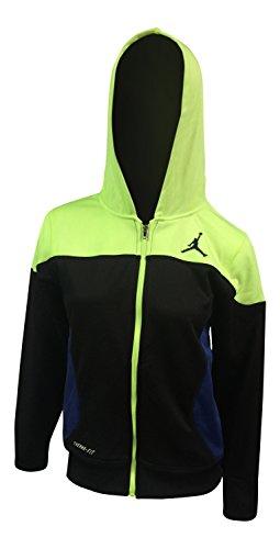 Jordan Big Boys Therma-fit Camo Printed Full-zip Jacket ((S (8-10 YRS), Wolf Grey/Yellow) (Black/Green, Large / 12-13YRS)