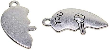Encantos claves de plata tibetana Paquete de 30
