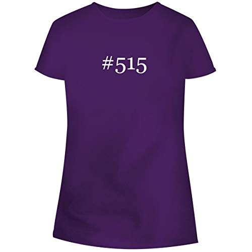 One Legging it Around #515 - Hashtag Women's Soft Junior Cut Adult Tee T-Shirt, Purple, Large ()