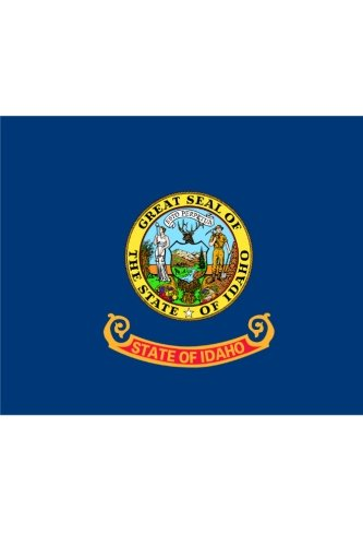 Flag of Idaho: Journal; 160 Lined / ruled pages, 6x9 inch (15.24 x 22.86 cm) Laminated. ()