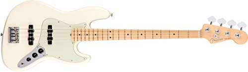Fender American Professional Jazz Bass - Olympic White with Maple - Bass Active Electric Jazz