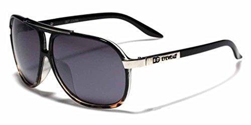 [Mens Womens Retro Vintage 80s Classic Fashion Designer Aviator Sunglasses Black-Black Brown] (80s Male Fashion)