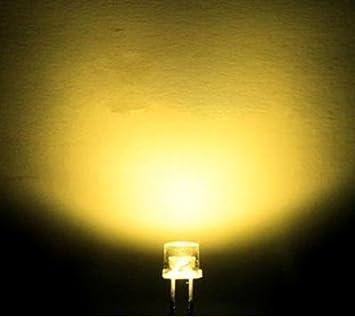 Yellow Flat Top LED 3mm