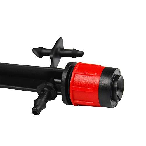 (BALDR Adjustable Fan Micro Spray on Riser Stake, 360° Full Circle Pattern, 0-7