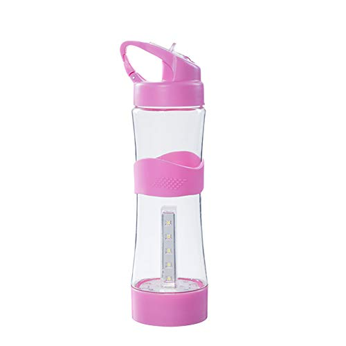 UIFIRST 500Ml Portable Camping Water Bottle USB Chargeable Outdoor Sport Intelligent Water Bottles,Pink by UIFIRST