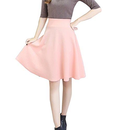 Plisse Tennis Pink Jupe Midi Taille Haute Jupe de Droite Femmes Courte Patineuse PHnWv08